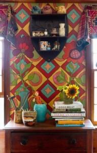 decorazione-parete-con-pittura-fantasia-anni-70